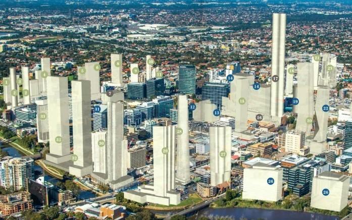 The Changing Skyline Of Parramatta Build Sydney