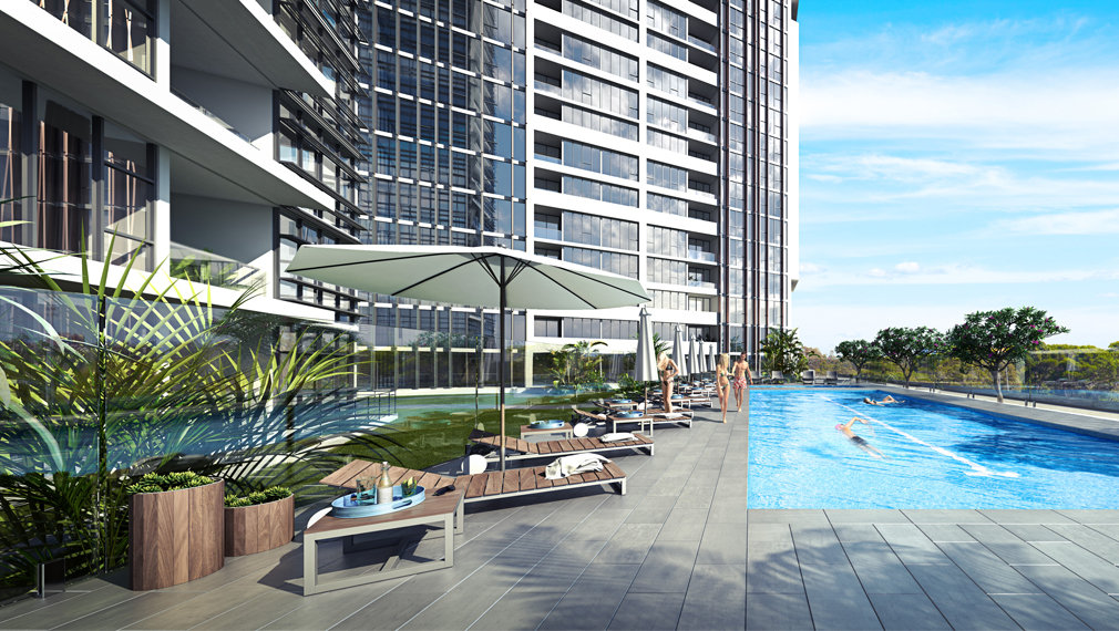 Altitude Meriton Pool Area