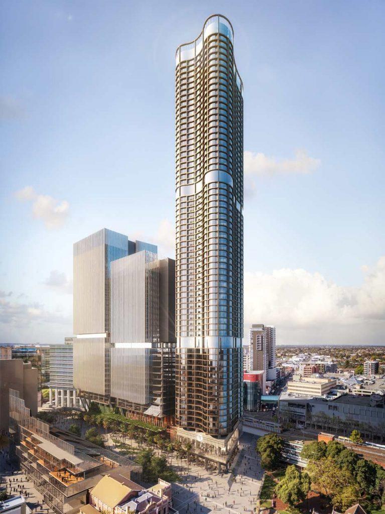 Parramatta Square Aerial View