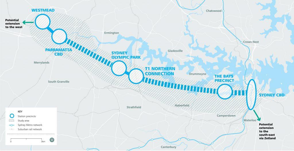Sydney Metro West Map March 2018