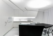 White & Black Futuristic Kitchen