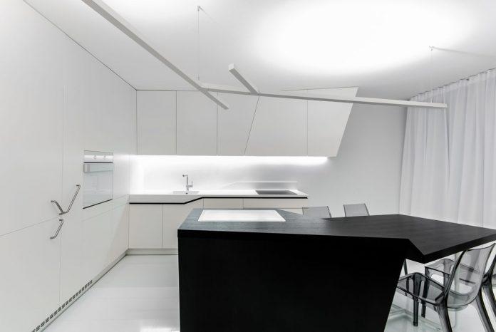 White & Black Futuristic Kitchen