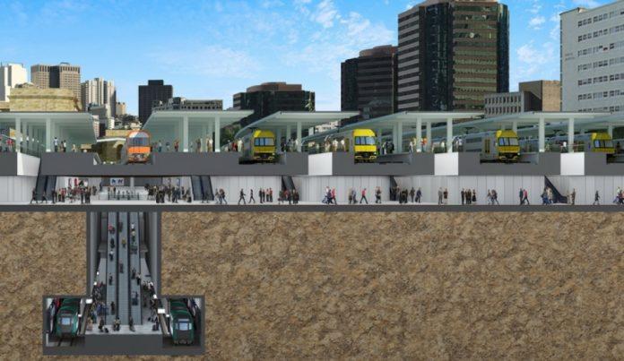 Central Walk Train Metro Link