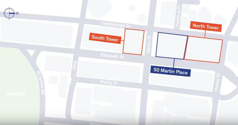 Sydney Metro Martin Place Towers Location Map