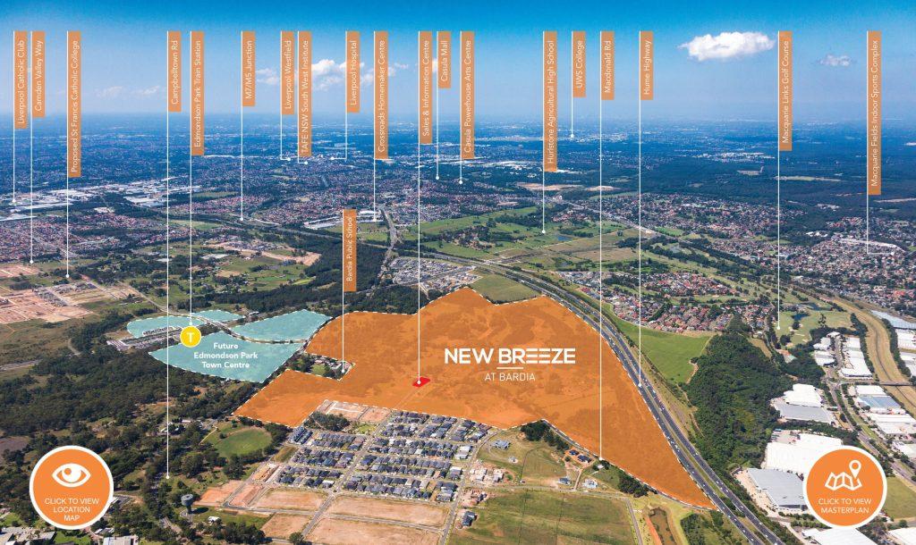 New Breeze Map Edmondson Park