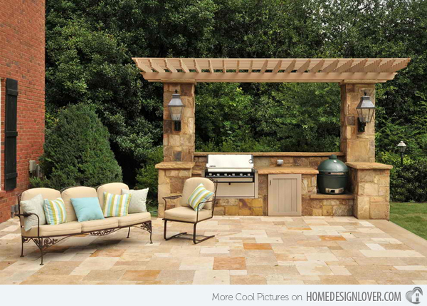 Classy Stone Outdoor Kitchen