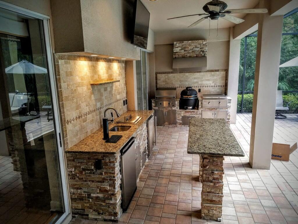 Granite Outdoor Kitchen