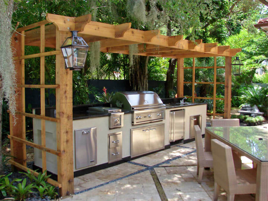 Outdoor Zen Garden Kitchen