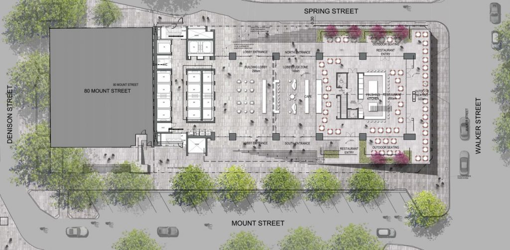 Site Plan 100 Mount Street