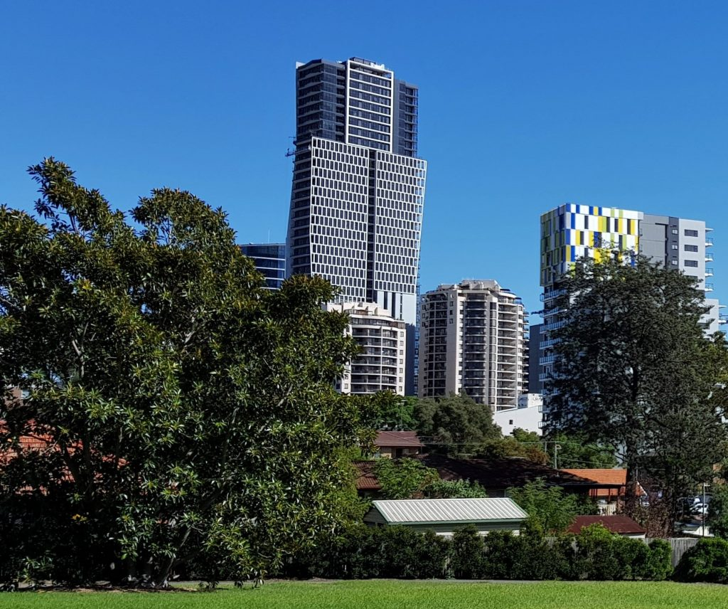 Skyrise Tower in Parramatta topped out