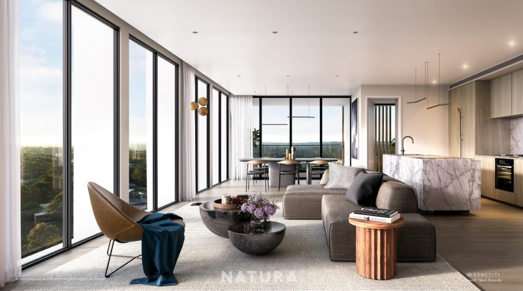 Natura Living Room Render