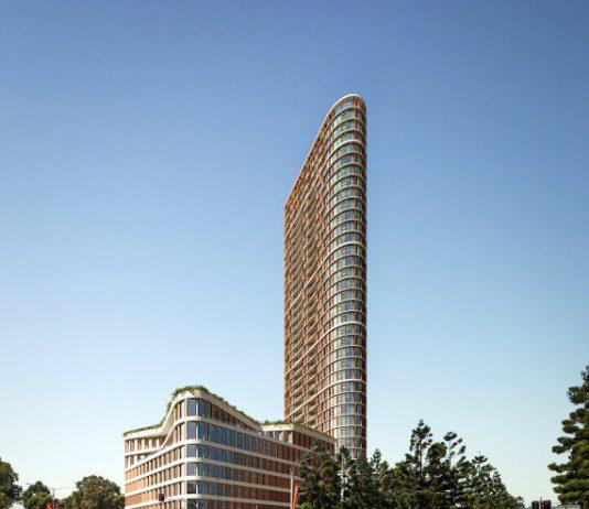 External Render of The Boomerang Tower