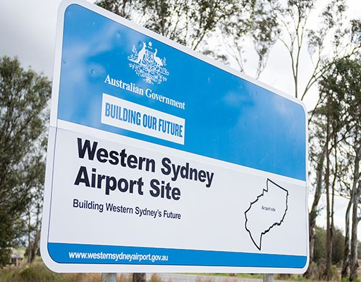 Western Sydney Airport Sign