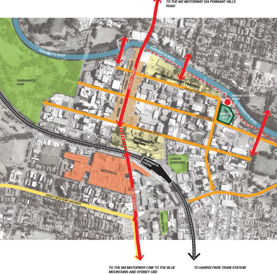 Location Map 180 George st Parramatta
