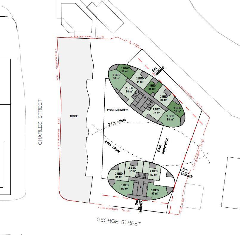 Floorplan diagrams for 180 George Street