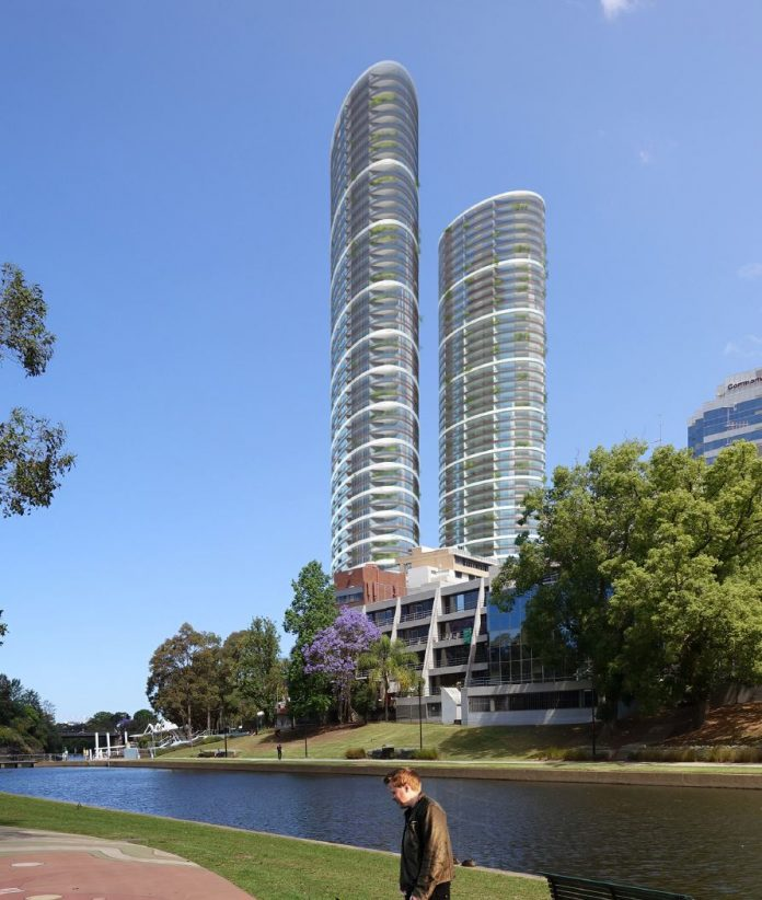 Render of 180 George st Twin Towers