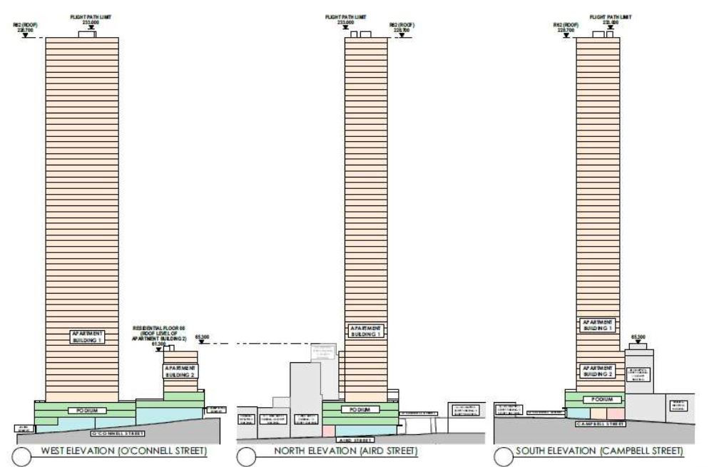 Elevations of 2 O'Connell st