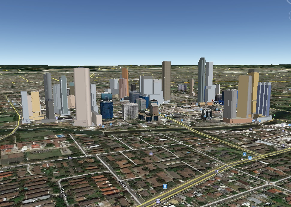 Future Parramatta Skyline Mockup including 180 George St Twin Towers