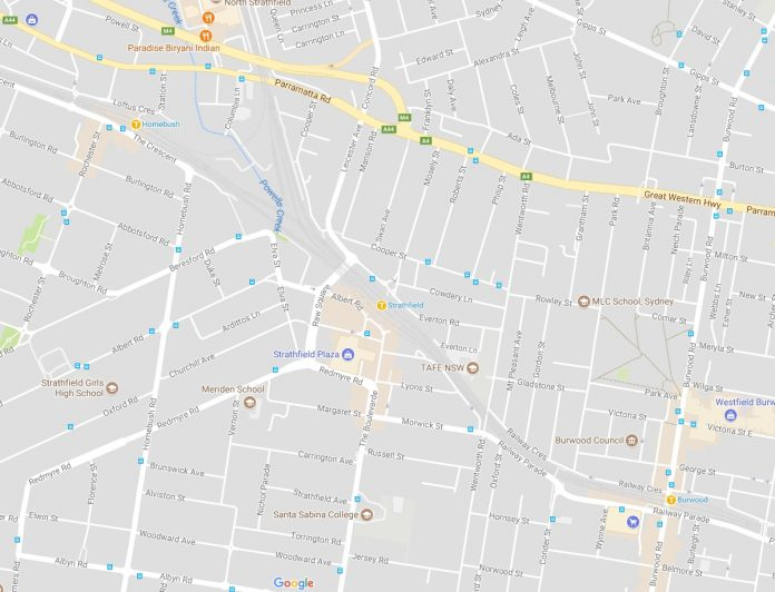 Burwood, Strathfield, Homebush Map