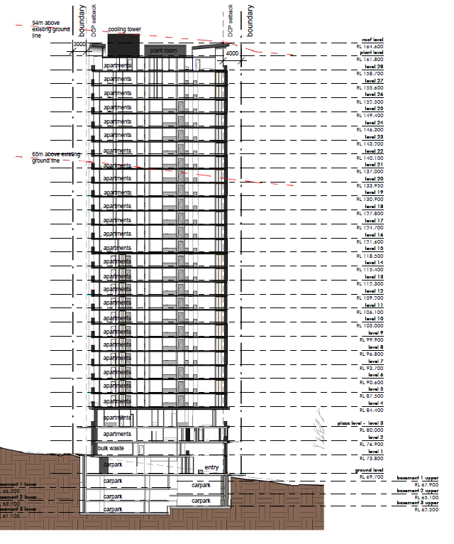 Embassy Tower Elevation Plans