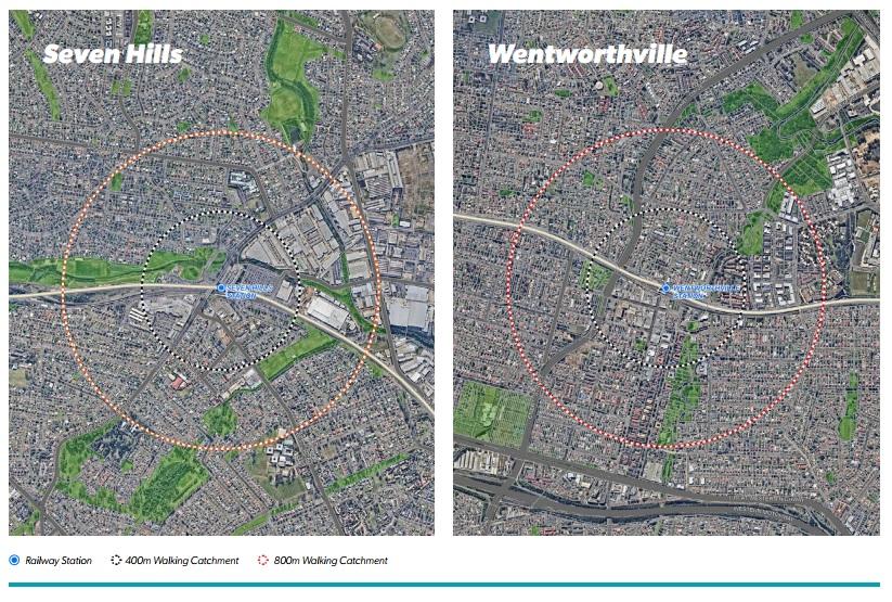Seven Hills & Wentworthville Map