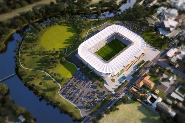 Western Sydney Stadium Aerial View