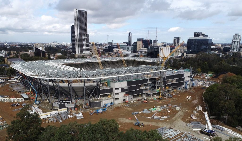 Western Sydney Stadium Progress September 2018