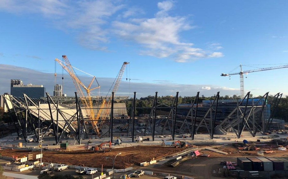 Western Sydney Stadium Progress May 2018