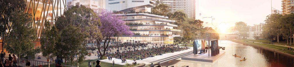 Parramatta Riverfront Future Render