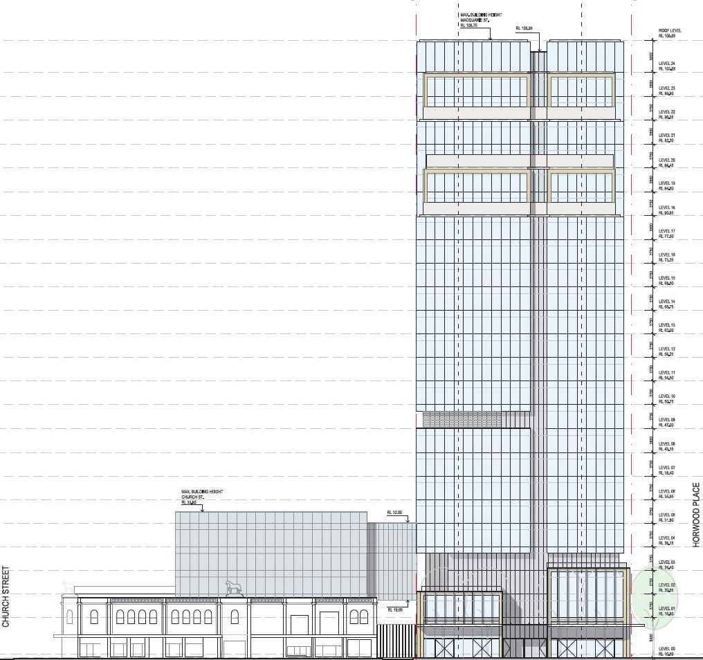 50 Macquarie St Parramatta Office Tower Elevations
