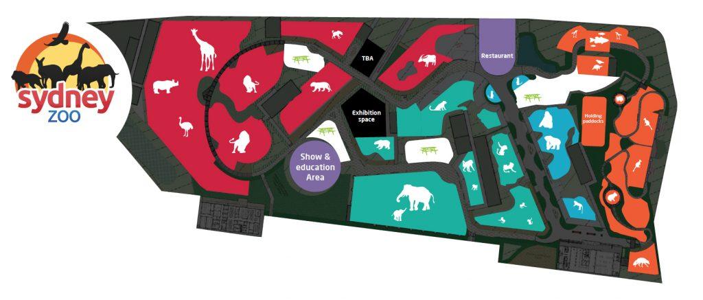 Western Sydney Zoo Map