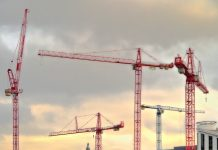 Residential cranes on the skyline