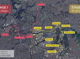 Parramatta Light Rail Stage 2 Indicative Map