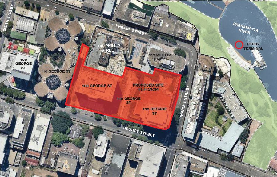 Proposed site of the 140 George Street Development