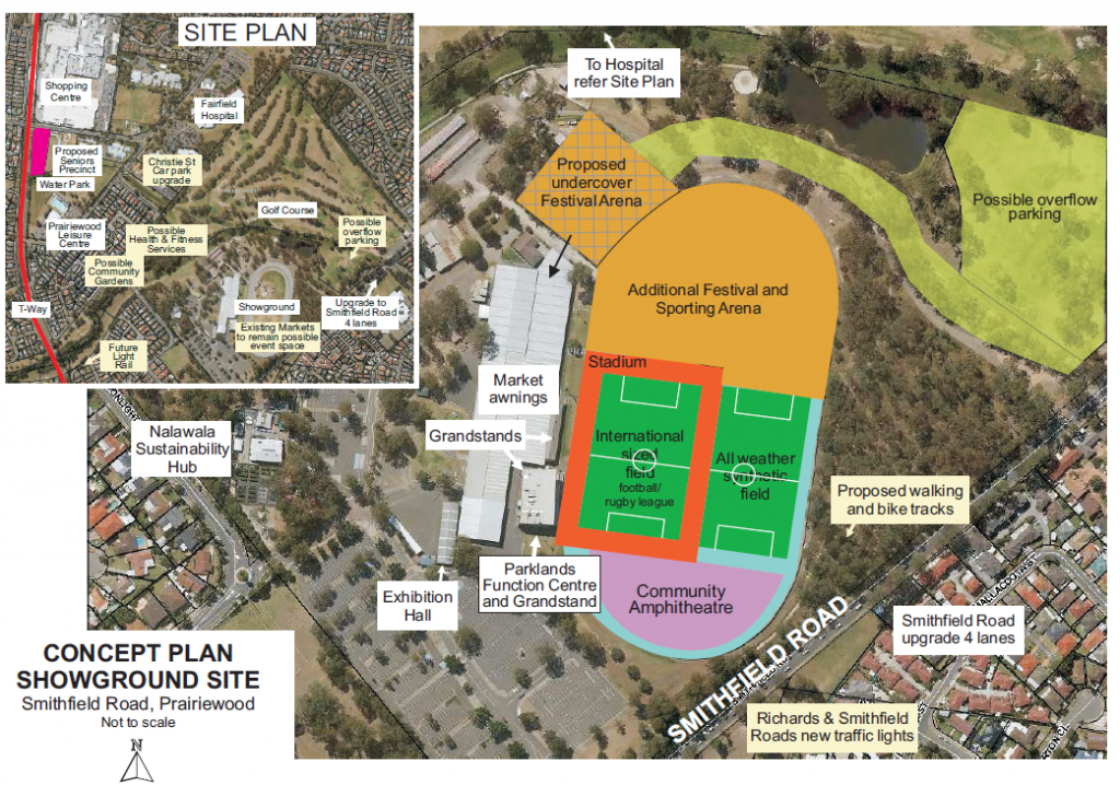 Previous Proposal for the Fairfield Showground Redevelopment