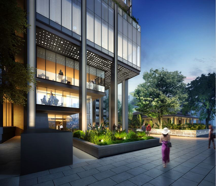 Marriott Hotel Render Street View