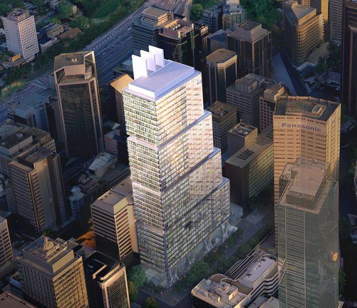 Victoria Cross Metro Tower Aerial Render