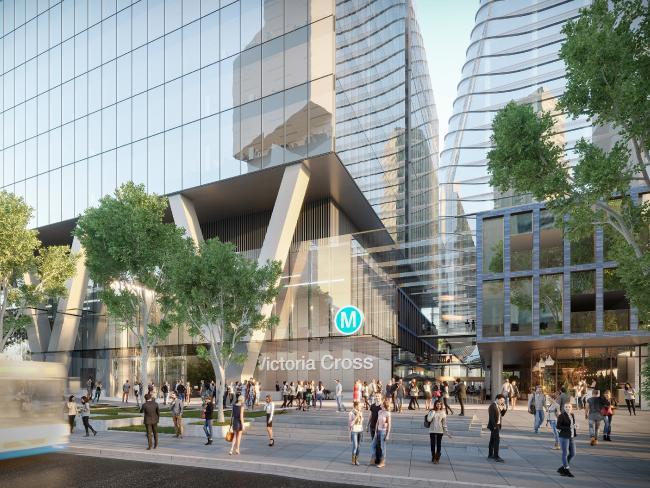 Street View of Victoria Cross metro Tower Development