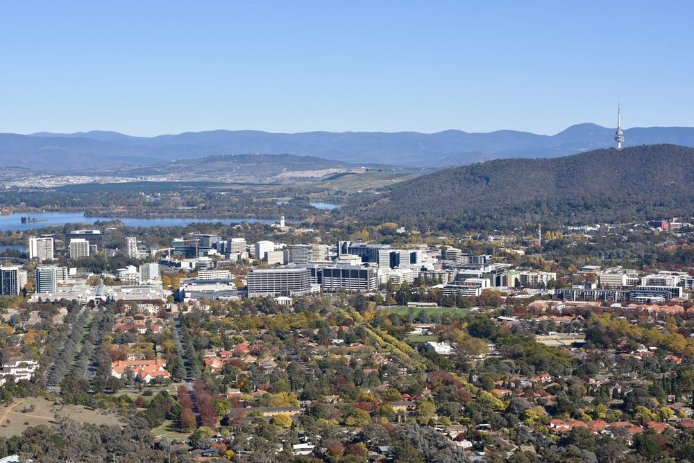 Canberra Aerial Skyline - Source: The Conversation
