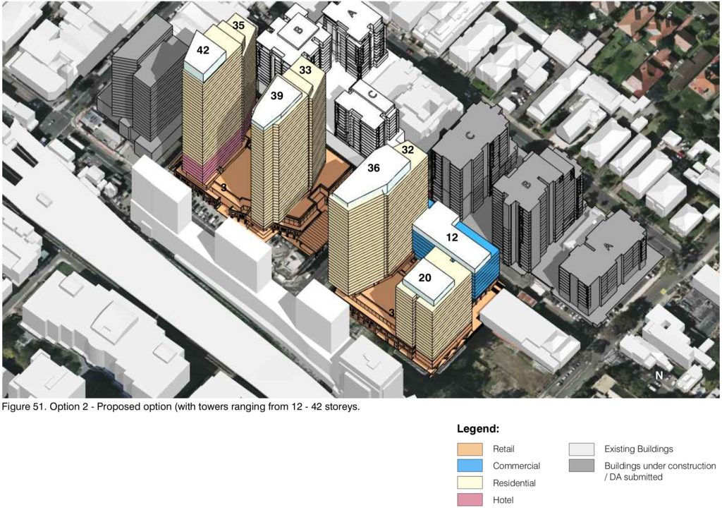 Burwood Place Elevation of development