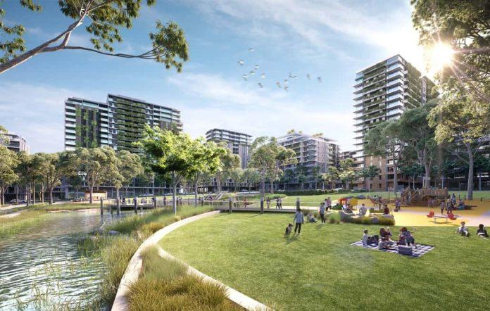 Melrose Park development along the riverfront