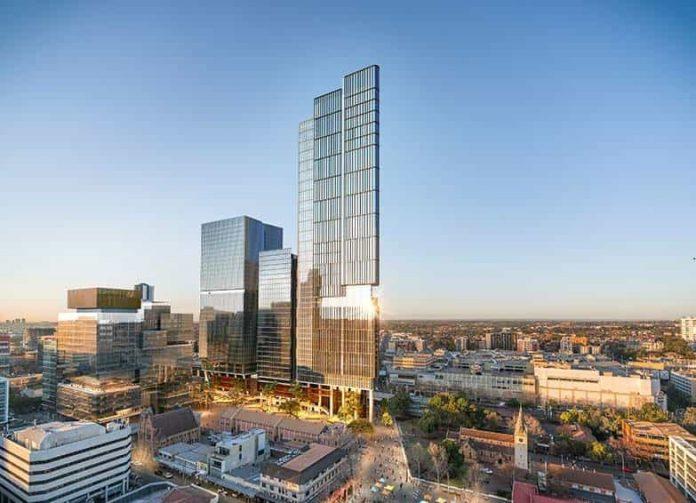 Parramatta Square 6&8 Skytower Render