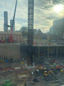 Foundation view base at crane of Parramatta Square 6 & 8