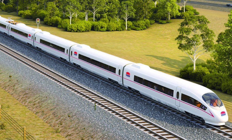 NSW High Speed Rail Rolling Stock Trains Render